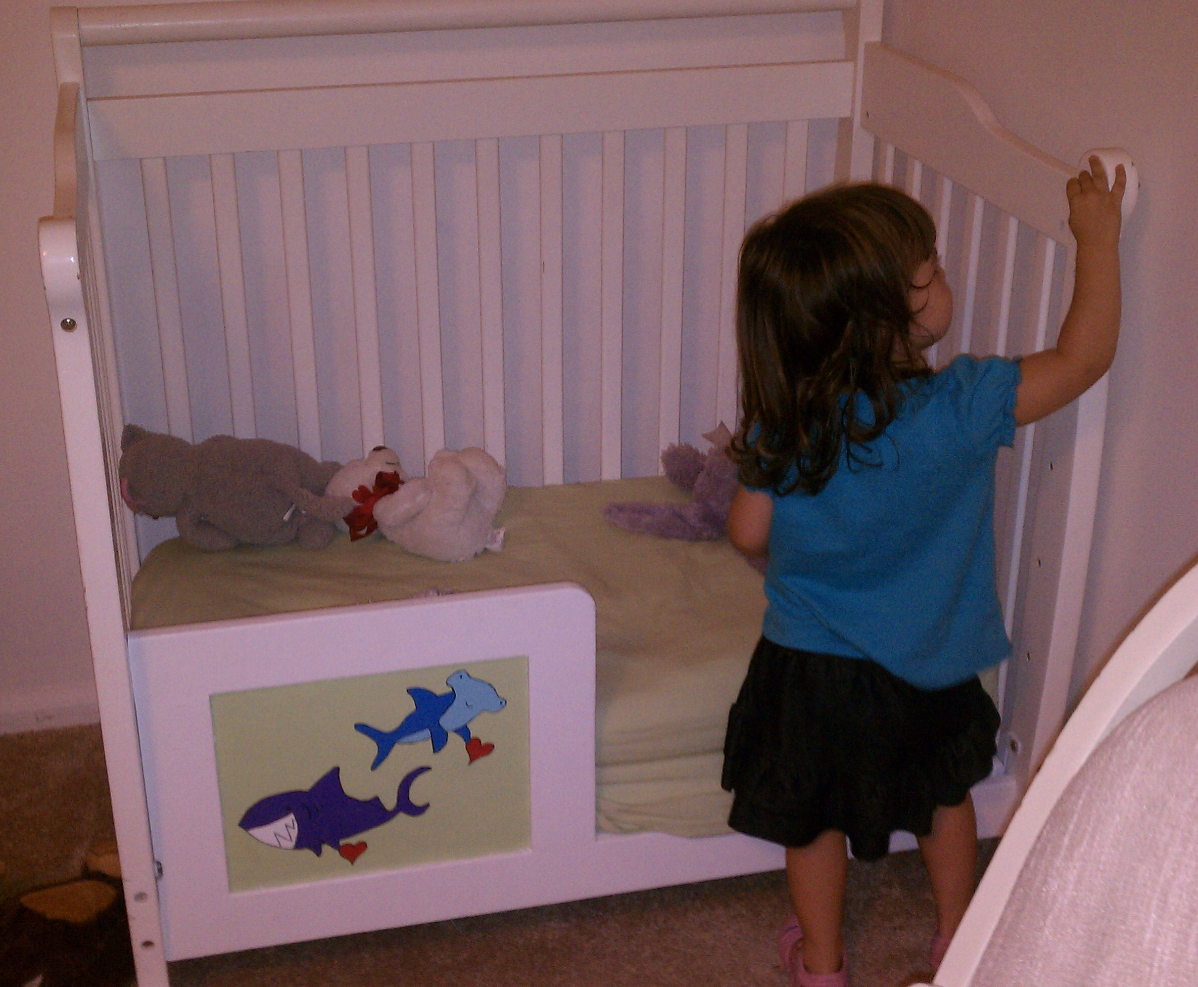 Mini Toddler Bed Ocean Nursery Update 2 Turning The Mini Crib Into A