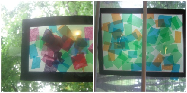 stained glass collage