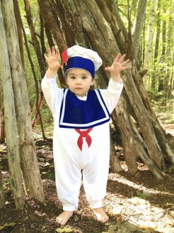 Marshmallow Man Childrens Costume - Stay Puft Warm Version