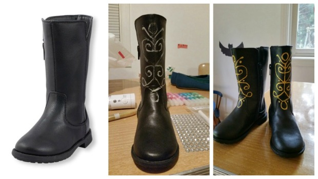 How to DIY your own Frozen Anna Boots